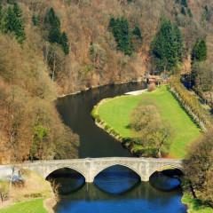 bridge and river landscape in Bouillon, Ardennes Belgium